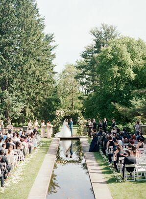Elegant, Luxurious Garden Ceremony at Skylands Manor in Ringwood, New Jersey