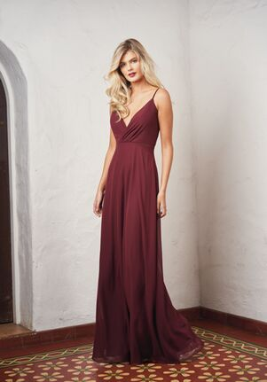 JASMINE P216057 V-Neck Bridesmaid Dress