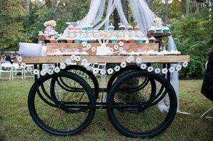 Rustic Cupcake Dessert Table Display