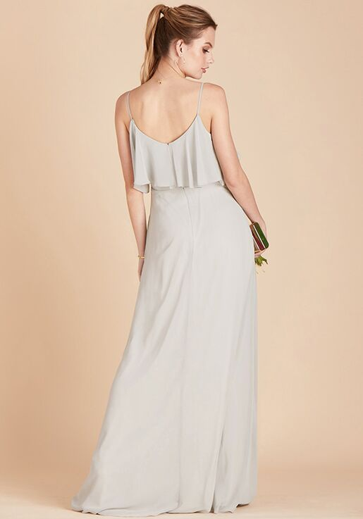 Birdy Grey Jane Convertible Dress in Dove Gray V-Neck Bridesmaid Dress