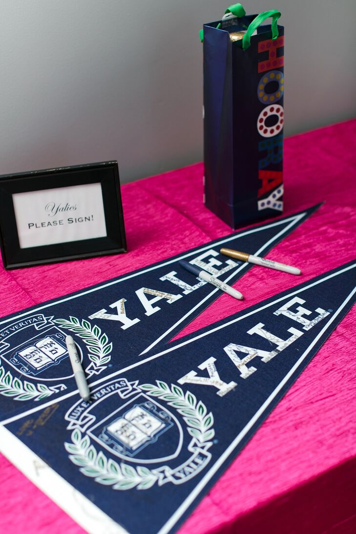 Yale Pennant Guest Book Alternative