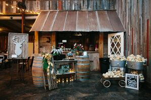 Rustic Barn Bar and Gift Table Display