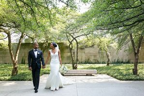 Classic Couple After Wedding at The Ivy Room at Tree Studios in Chicago, Illinois