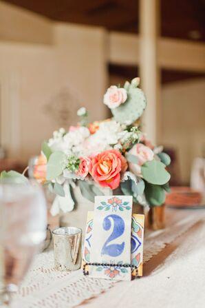 Cactus Centerpieces at Elegant Desert Wedding