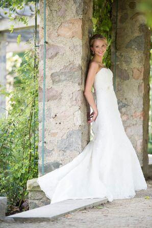 Bride in a Mori Lee Wedding Dress