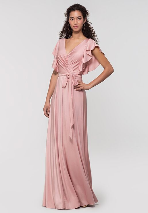 Kleinfeld Bridesmaid KL-200153 V-Neck Bridesmaid Dress