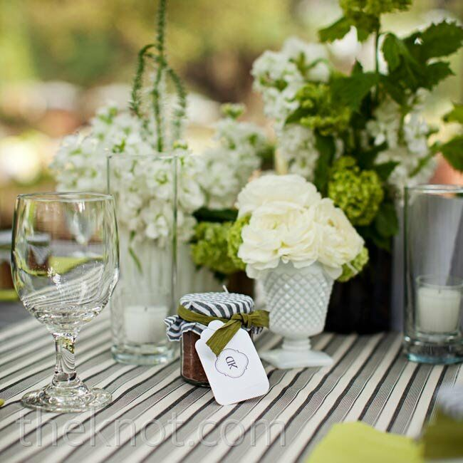 White and Green Tablescapes