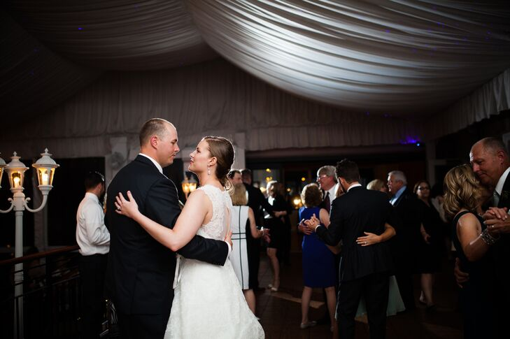 "After dinner, the couple and their guests enjoyed an upbeat mix of classics and top 40 hits, from Al Green to Bruno Mars, spun by DJ Jim Gosser of Synergetic Sound. For the traditional first dance, Caitlin and Hugh danced to ""When I Fall in Love"" by Nat King Cole. ""I have always loved this song and, fortunately, Hugh did too,"" Caitlin says."
