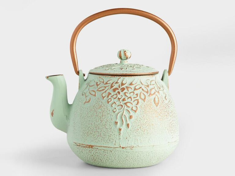 Cast iron teapot sixth anniversary gift for her