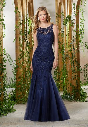 MGNY 71907 Blue Mother Of The Bride Dress