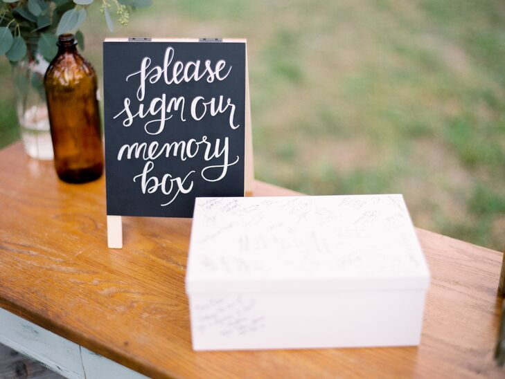 Hand-Lettered Chalkboard Guest Book Sign