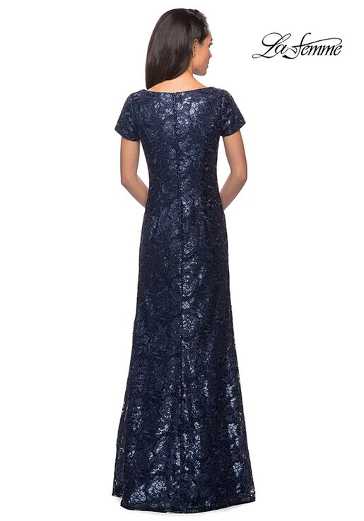La Femme Evening 27884 Blue Mother Of The Bride Dress