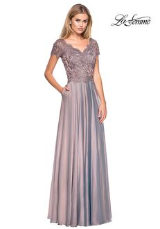 La Femme Evening 27098 Blue Mother Of The Bride Dress