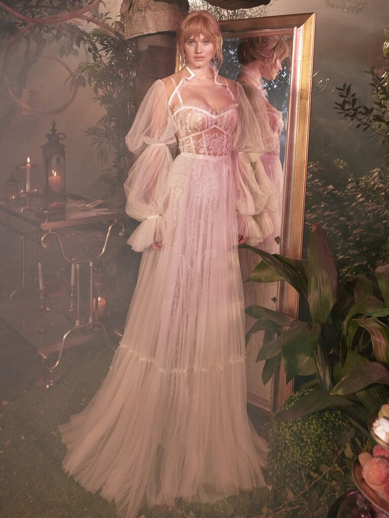 GALA by Galia Lahav Spring 2020 Bridal Collection blush romantic wedding dress