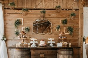 Vintage Wood Barrel Dessert Table