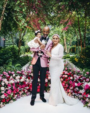 Family Portrait During Wedding at Sagamore Pendry Hotel in Baltimore