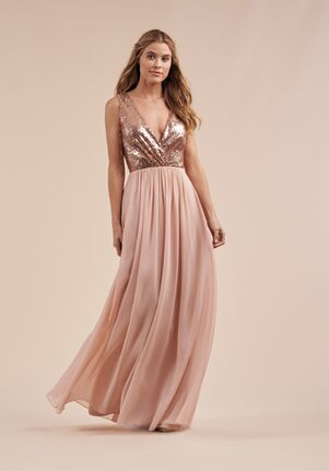 B2 Bridesmaids by Jasmine B213065 V-Neck Bridesmaid Dress