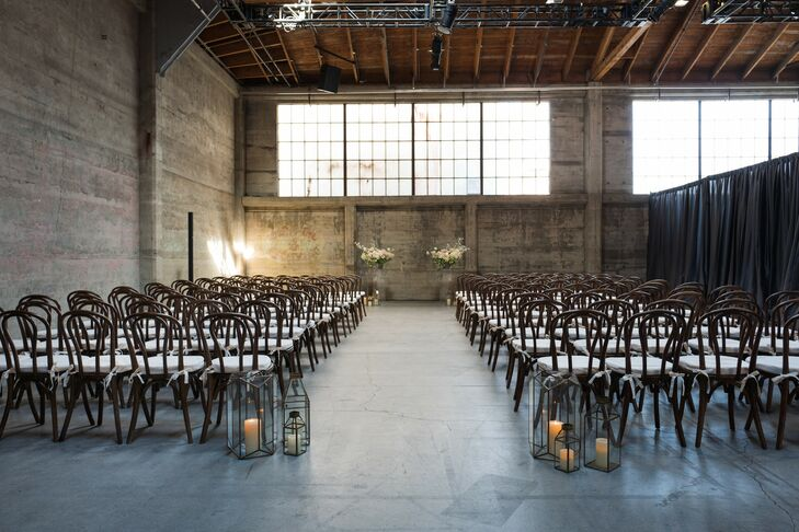 Modern, Industrial Ceremony Site at Dogpatch Studios in San Francisco