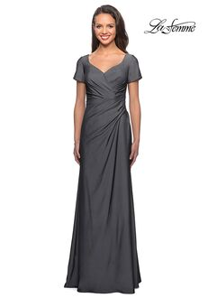 La Femme Evening 27855 Blue Mother Of The Bride Dress