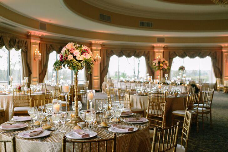 Oheka Castle Gold Wedding Reception Decor