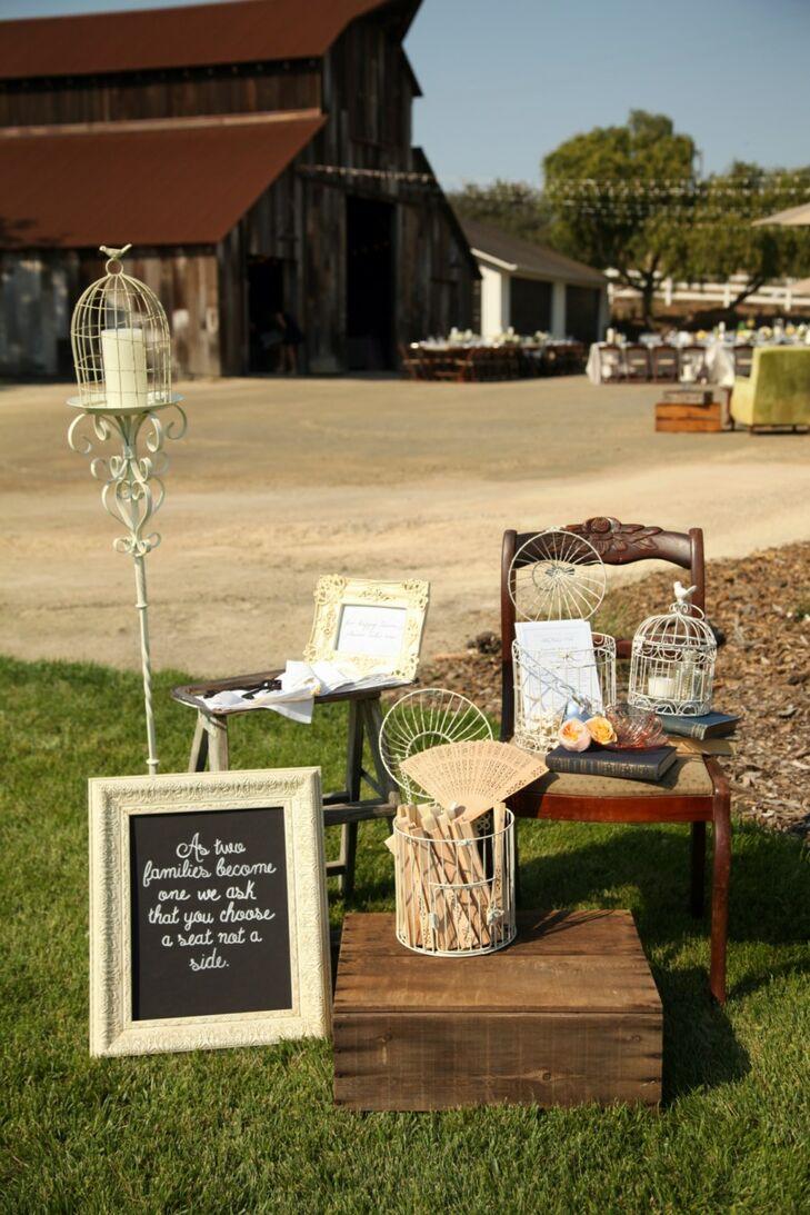 Repurposed Antique Wedding Ceremony Decor