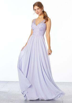 Morilee by Madeline Gardner Bridesmaids Style 21656 V-Neck Bridesmaid Dress