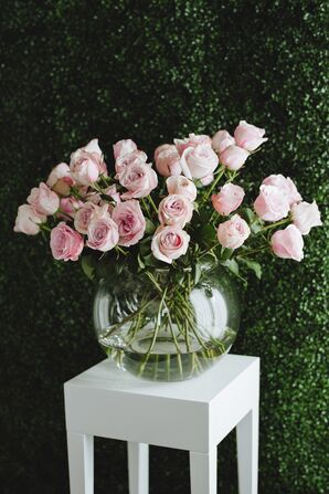 Pale Pink Rose Flower Arrangement