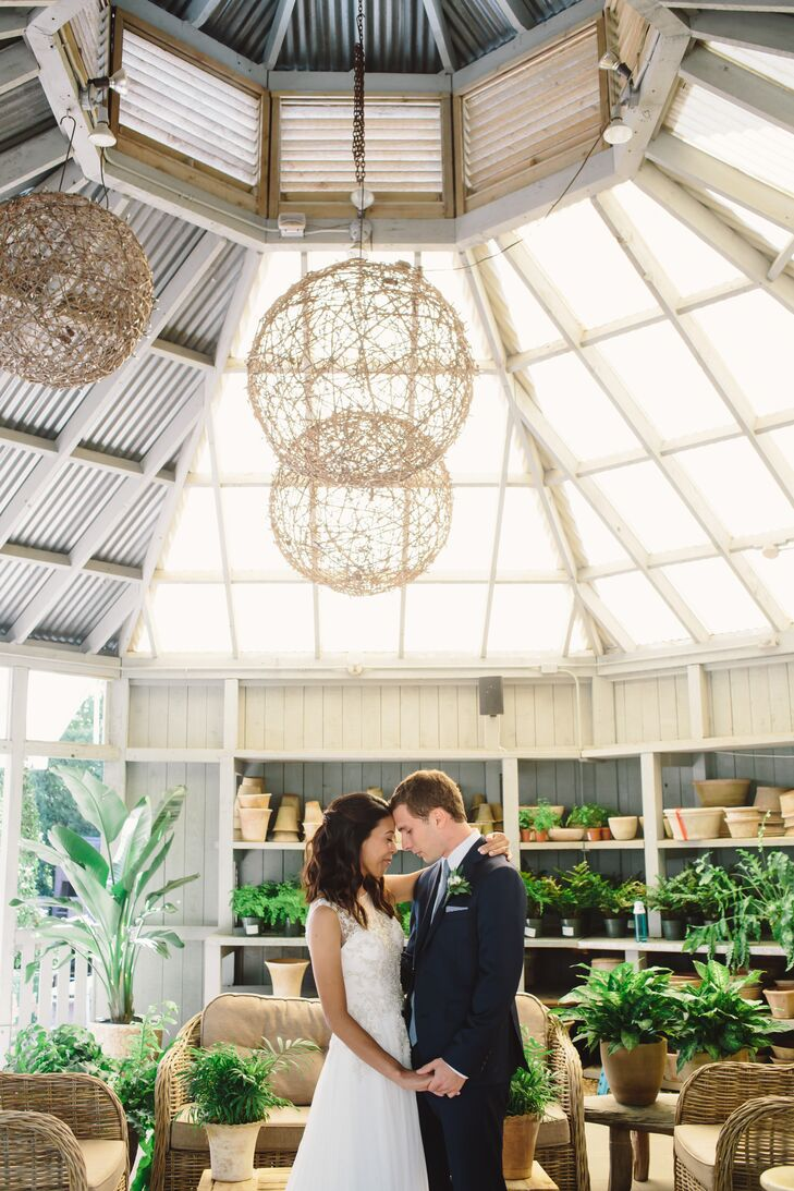 Leslie Gemarino ( 31 and an eighth grade English teacher)and Zachary Schwarz, (31 and a history teacher and soccer coach)  drew wedding design inspir