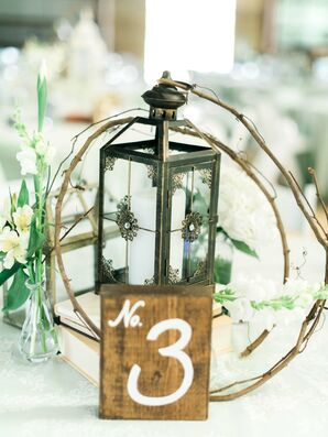 DIY Twig and Lantern Centerpiece
