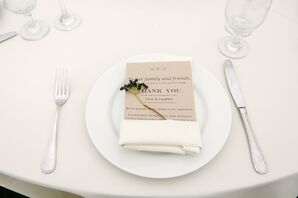Simple Ivory Table Setting