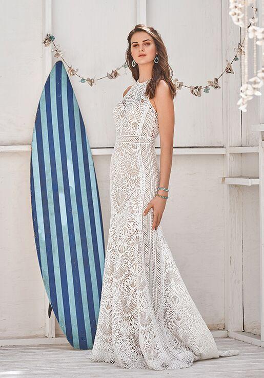 07bff3eb6123 Lillian West 66055 Sheath Wedding Dress