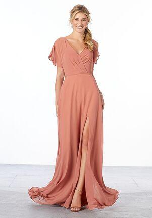 Morilee by Madeline Gardner Bridesmaids Style 21667 V-Neck Bridesmaid Dress