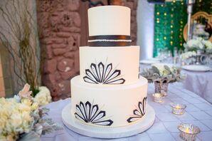 Black-and-White Art Deco Wedding Cake
