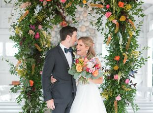 """Devon Vanderslice and Jake DeVries spent about 1.5 years planning the wedding of their dreams. """"We wanted our wedding day to be a perfect representati"""