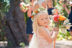 Pink and Lace Flower-Girl Dress