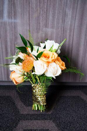 Orange Bridal Bouquet