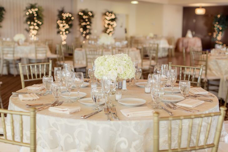 Ivory Gold And White Table Decor