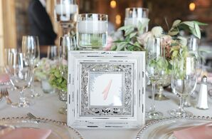 Vintage-Inspired Framed Table Numbers