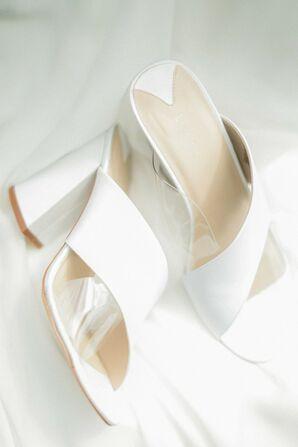Simple White Bridal Shoes