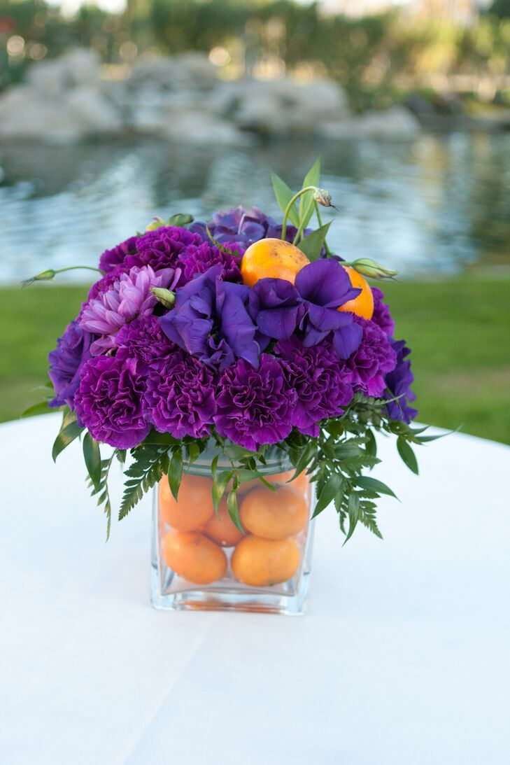 Lily, Carnation and Clementine Centerpiece