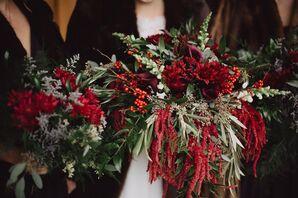 Dramatic Red Amaranthus Bouquet
