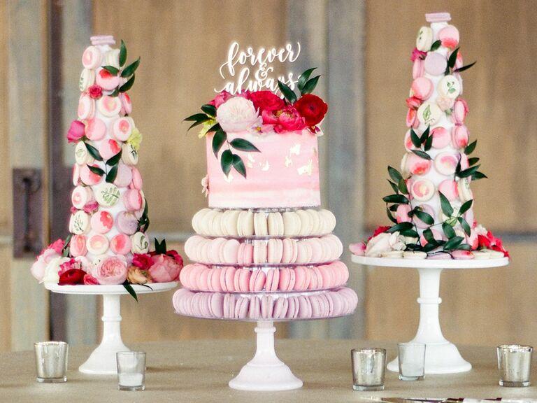 Macaron Wedding Cake Displays