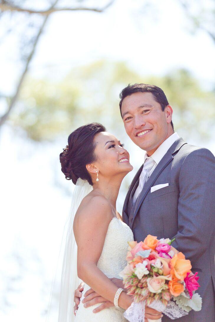Happy Couple Shot at Wedding