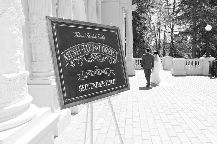 Wedding Sign Outside of Venue