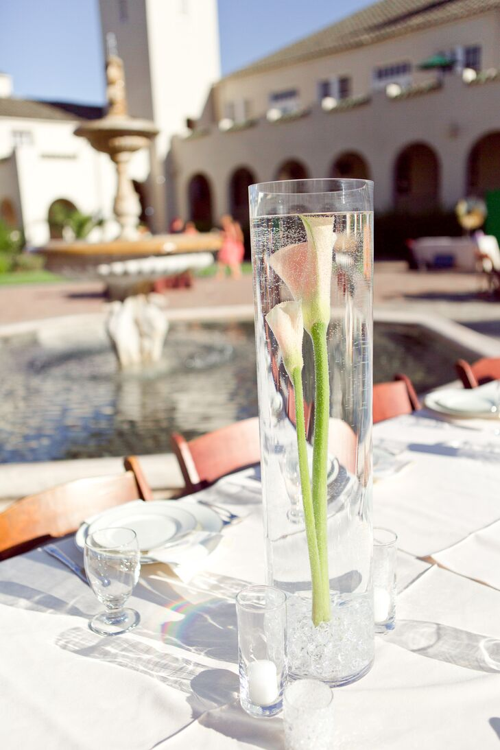 Calla Lily Submerged in Water Centerpieces