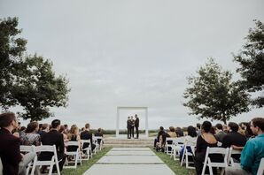 Minimalist Outdoor Ceremony at Prospect House