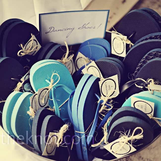 00ace6856 Flip-Flop Wedding Favors. Favorite. Guests could kick off their heels and  grab flip-flops