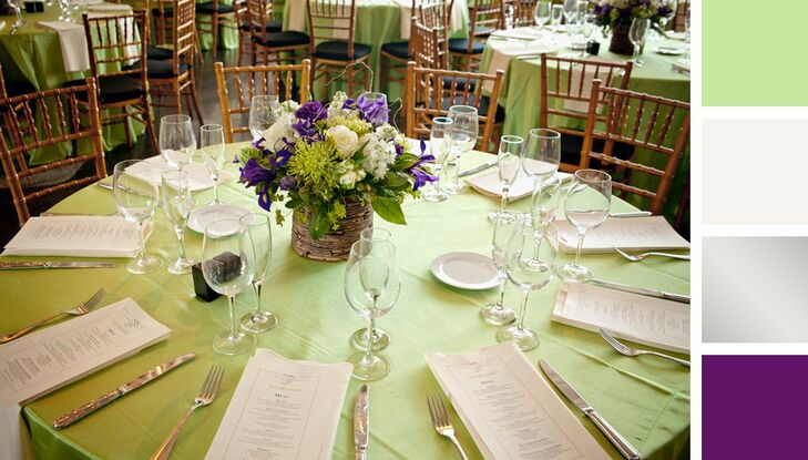 Purple And Green Wedding.Mint Green Silver And Purple Color Palette