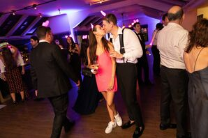 Bride and Groom in Casual Reception Outfits