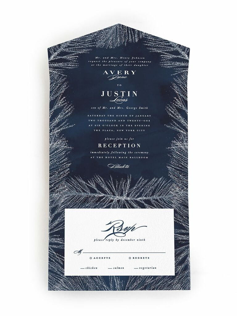 Winter Wedding Invitations We Love